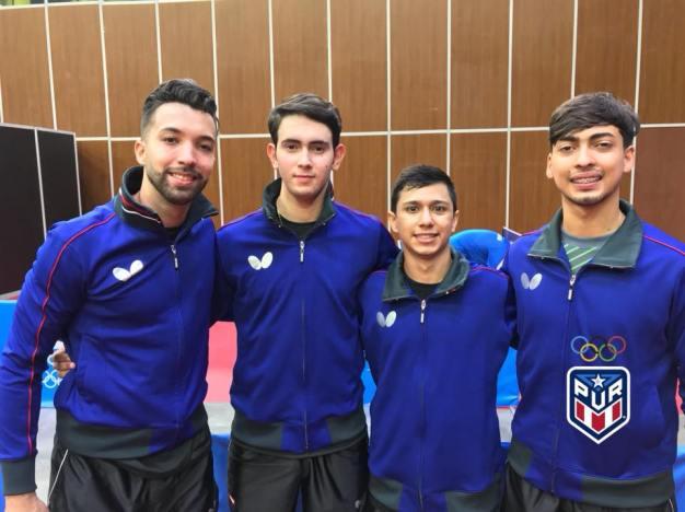 Plata para Puerto Rico en Tenis de Mesa masculino