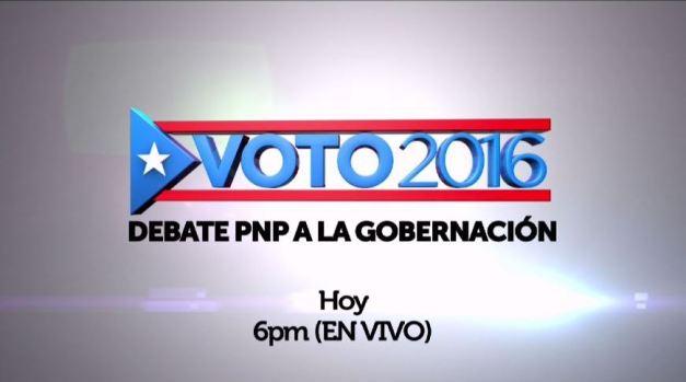 Debate PNP a  la gobernación |Hoy a las 6PM