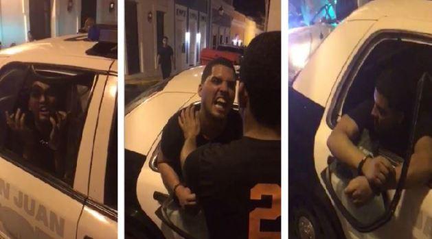 Detenido rompe cristal de patrulla a cabezazos y patadas