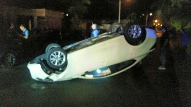 Auto volcado en Bayamón