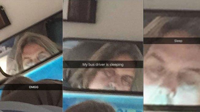 Captan a chofer de bus dormido mientras transportaba niños