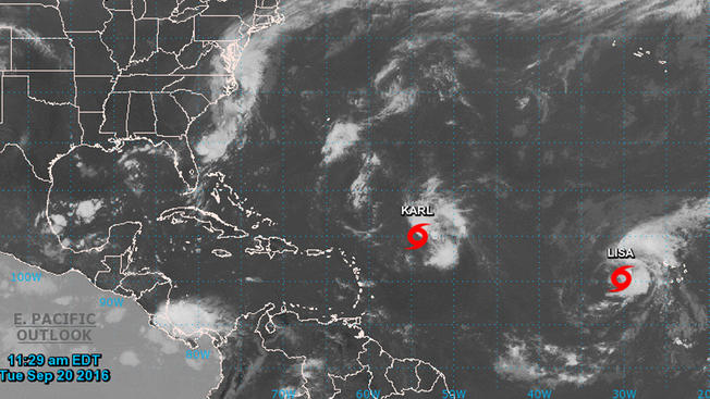 Se forma en el Atlántico la tormenta tropical Lisa