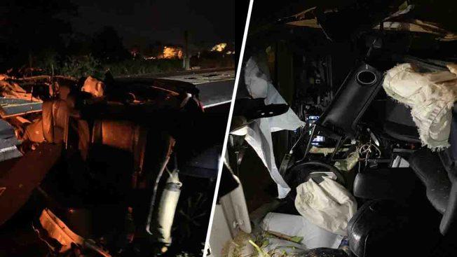 Aparatoso accidente: Hombre impacta poste con su carro en Dorado