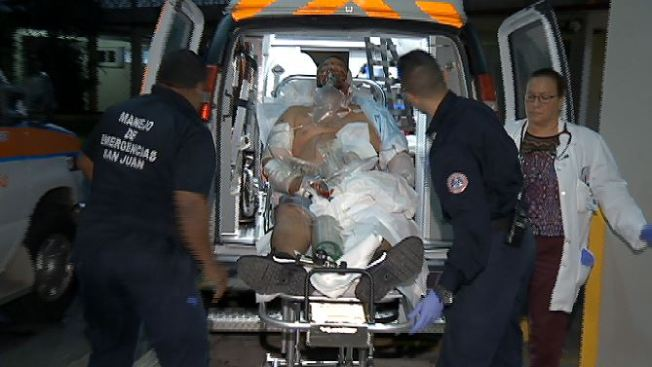 Herido de bala llega conduciendo a sala de emergencias
