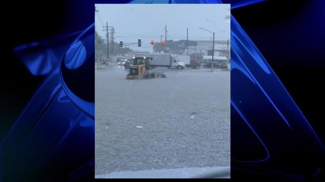 Se inunda carretera en Carolina