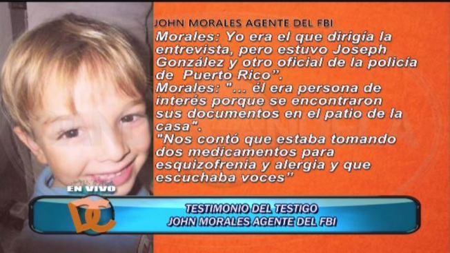 Escalofriante testimonio de agente John Morales