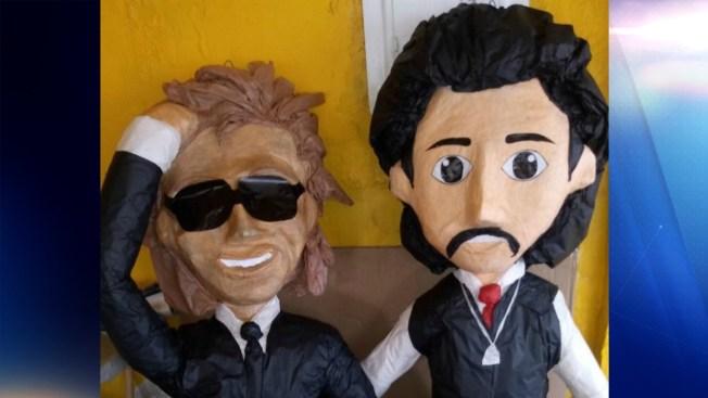 Luis Miguel y su polémico padre se convierten en piñatas