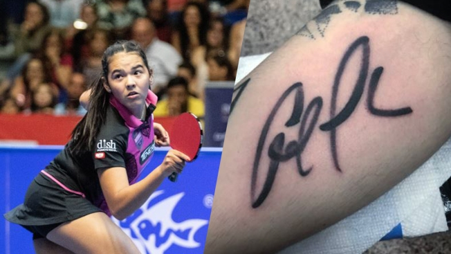 Fanático se tatúa la firma de Adriana Díaz