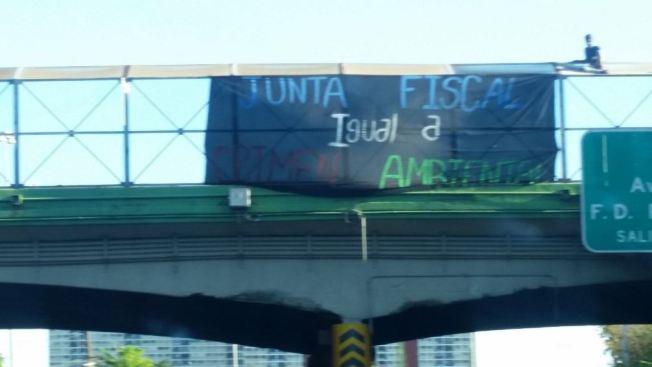 Protesta de Tito Kayak en expreso PR-52