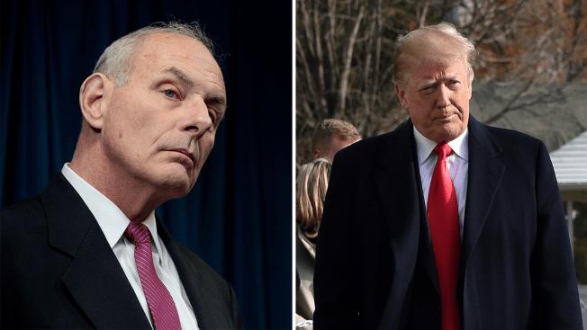 Trump dice que John Kelly, su jefe de gabinete, dejará su puesto a finales del año