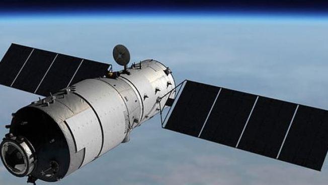 Visible desde la isla nave espacial que pierde altura