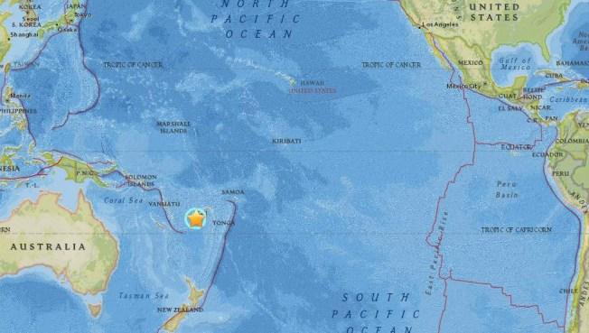 Cancelan aviso de tsunami tras terremoto en Fiyi