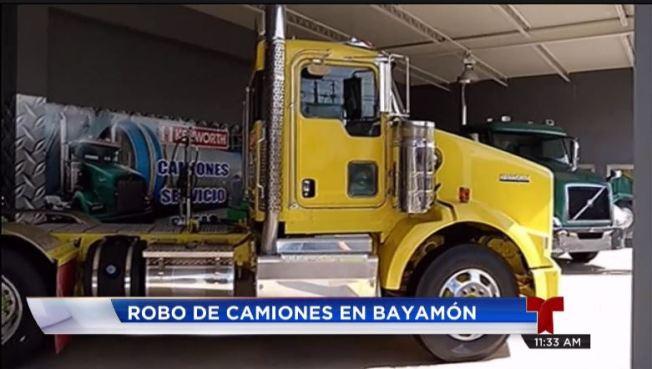 Roban camión de concesionario en Bayamón