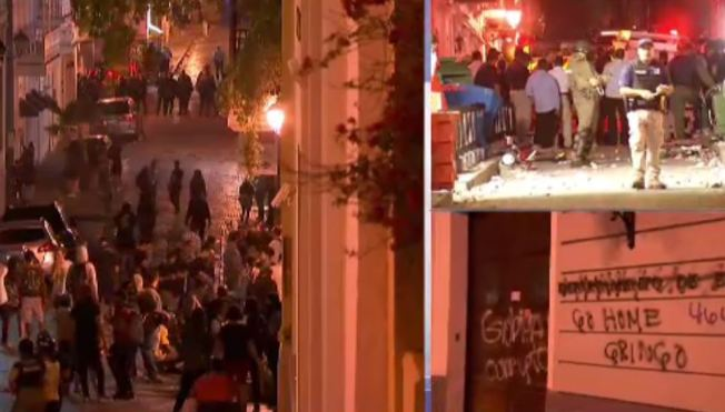 Estalla la violencia en la protesta contra Rosselló