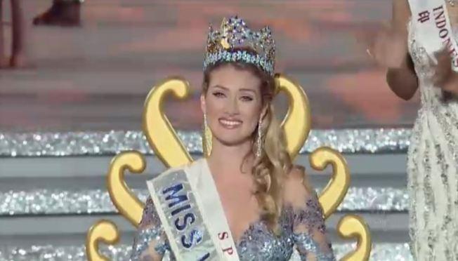 Miss España es coronada la mujer mas bella del mundo