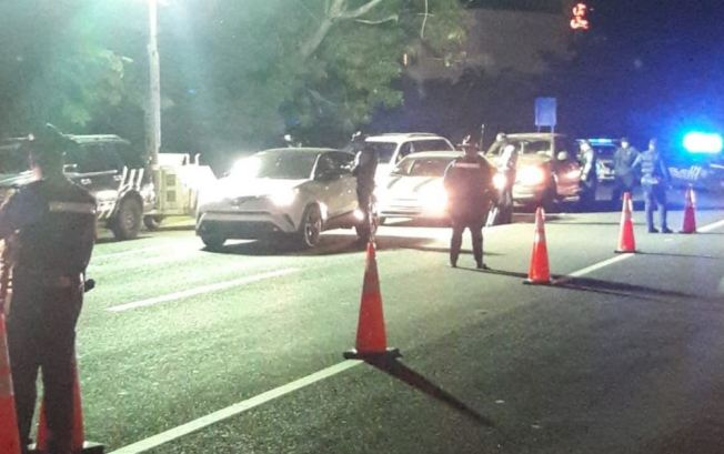 Las autoridades realizan bloqueo en Isla Verde