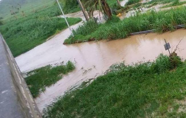 Fuera de su cauce el Río Blanco en Naguabo