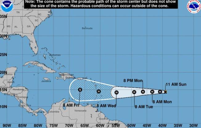 Isaac: pasaría como tormenta tropical al sur de PR