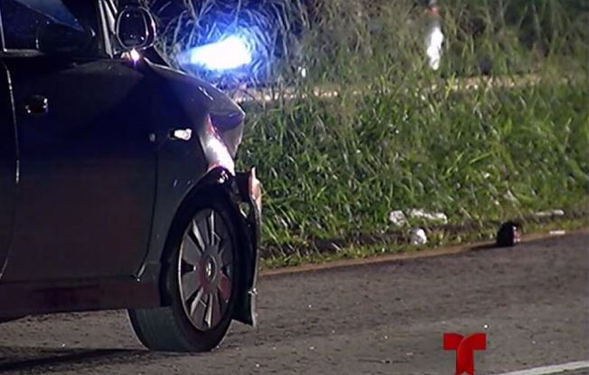 Accidente fatal con peatón en ''hit and run''