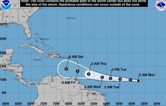 Kirk podría traer lluvias y viento para el viernes