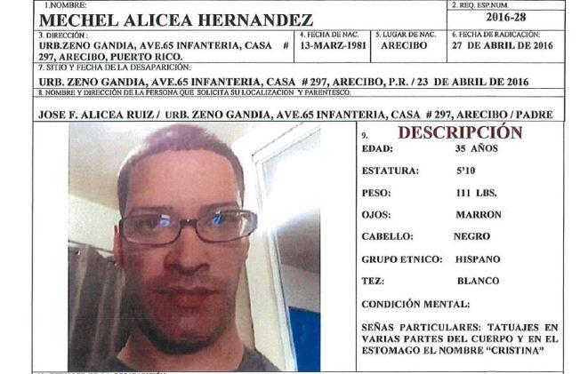 Buscan a joven desaparecido en Arecibo