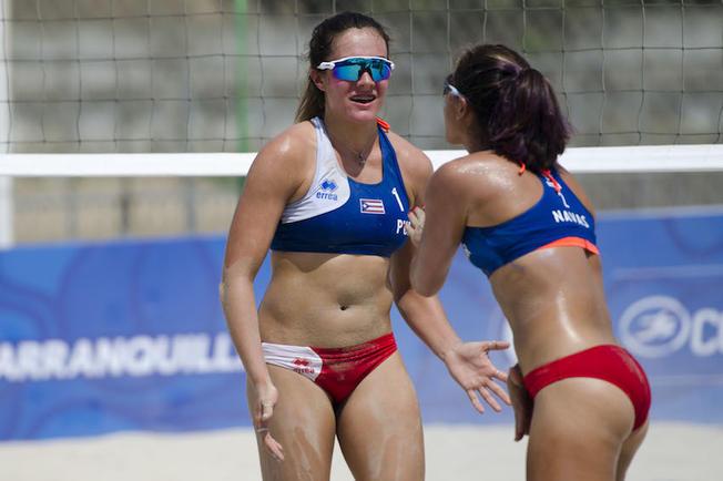 Las boricuas van por el bronce en el voleibol de playa
