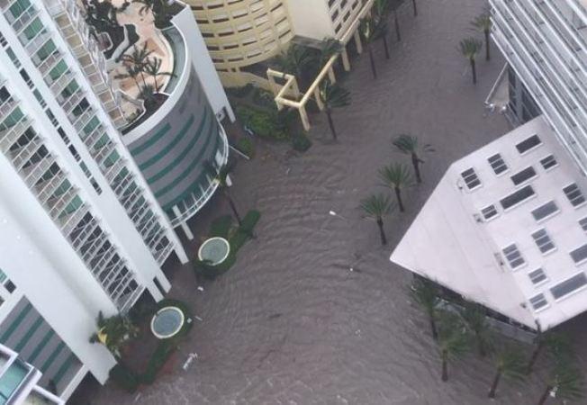 Maripily reporta la furia del huracán Irma