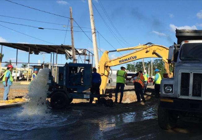 Sectores sin servicio de agua por rotura de tubo en Guaynabo