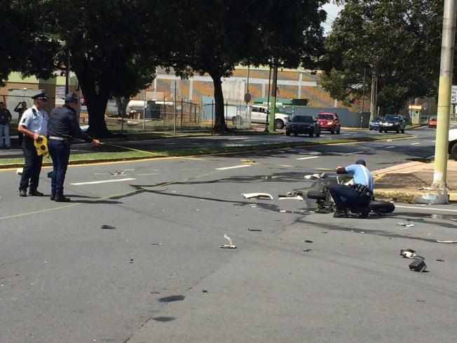 Grave motociclista tras accidente en Bayamón
