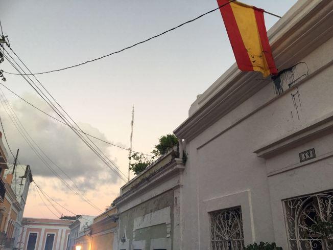 Vandalizan bandera de España en Viejo San Juan