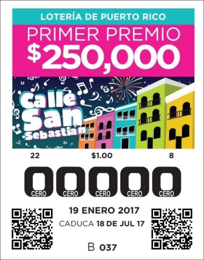 A la venta billete de la calle San Sebastián