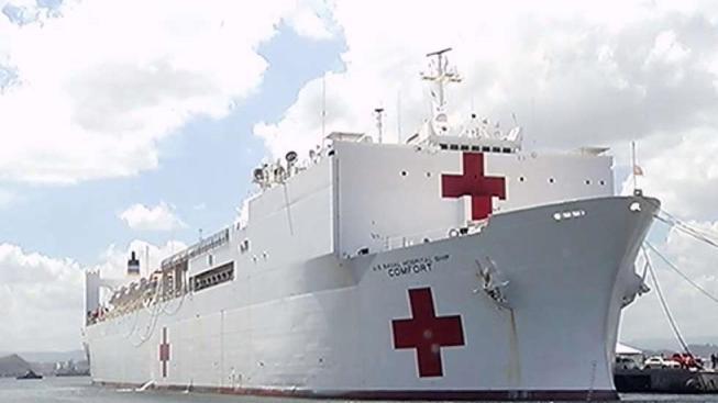 El USNS Comfort se va oficialmente de Puerto Rico