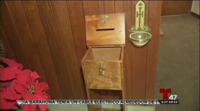 Ladrones entran a iglesia católica y se llevan donaciones