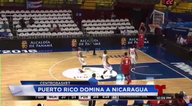 Puerto Rico derrota a Nicaragua en Centrobasket