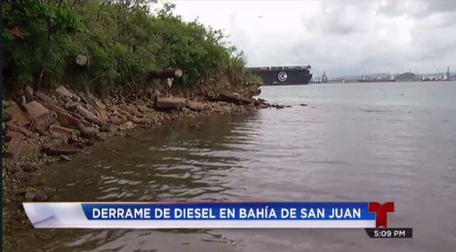 Derrame de combustible en  la Bahía de San Juan