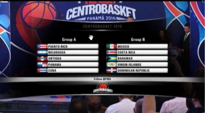 Centrobasket 2016 : Puerto Rico jugará en el Grupo A