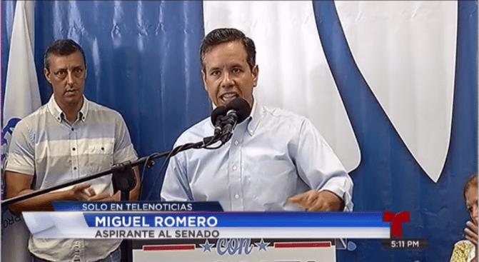 Miguel Romero radica su candidatura al Senado por San Juan