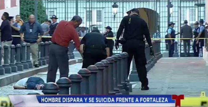 Fotos: Escena de suicidio frente a Fortaleza