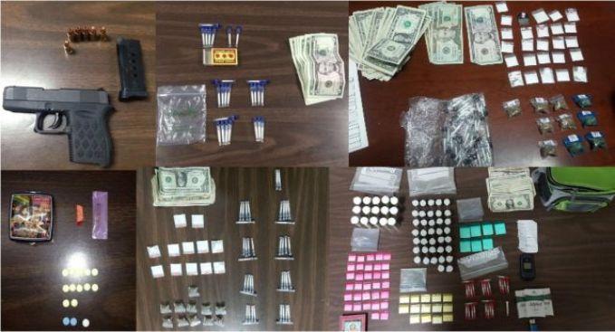 Una decena de arrestados por drogas y armas