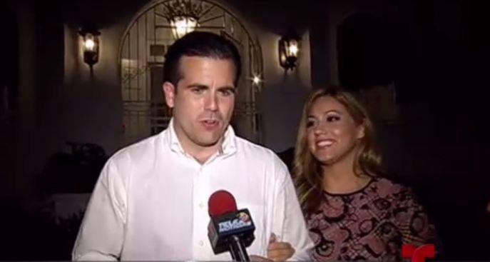 Ricardo Rosselló confirma que su esposa perdió el bebé