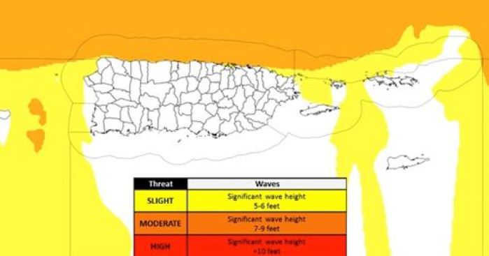 Peligrosas las playas de Puerto Rico este viernes