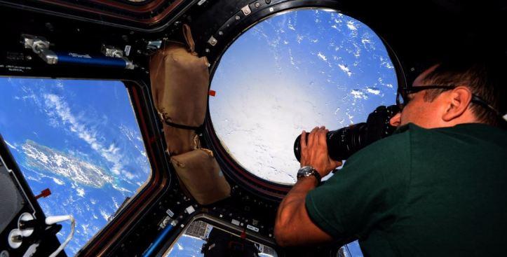Puerto Rico desde el espacio tras María
