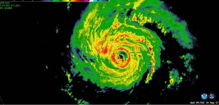En imágenes: así fue la trayectoria del huracán María