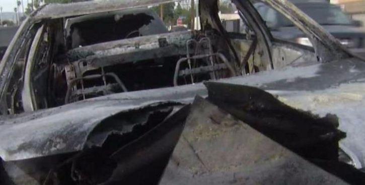 Hallan cuerpo calcinado en el interior de un auto en Guaynabo