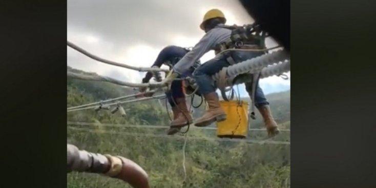 Video muestra la dificil labor de reparación tras el apagón