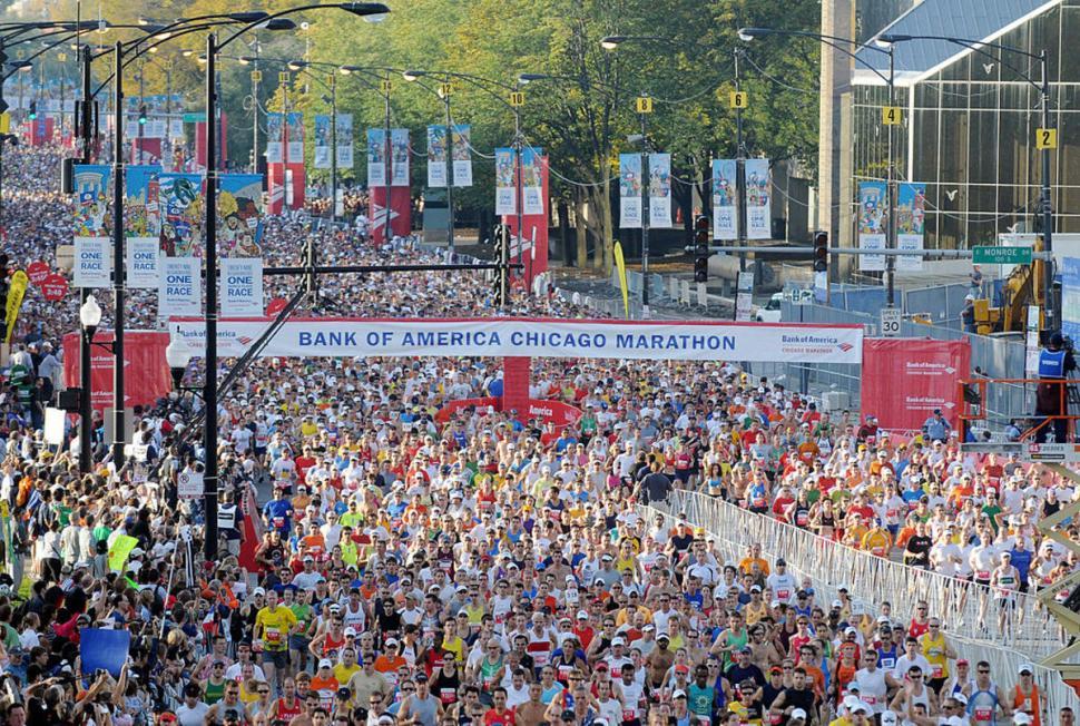 Sorpresa en el Maratón de Chicago